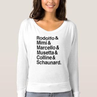 La Bohème characters shirt
