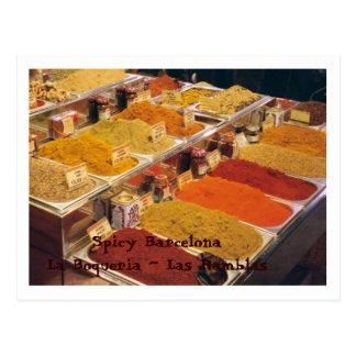 La Boqueria - Spices for Your Meal Postcard