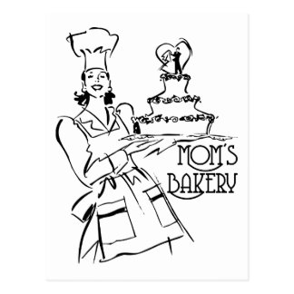 La boulangerie de la maman carte postale