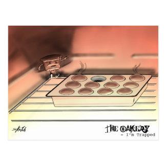 La boulangerie - je suis emprisonné - carte postal carte postale