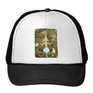 La boule bleue de jardin casquettes de camionneur