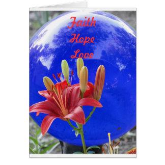 La boule regardante fixement bleue, amour de mai carte de correspondance