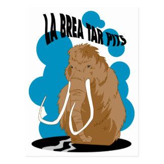 La Brea Tar Pits Mammoth Postcard