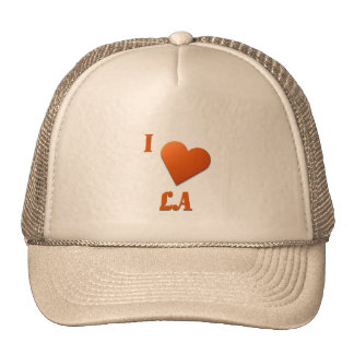 LA -- Burnt Orange Mesh Hats