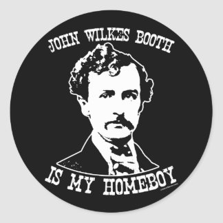 la cabine de wilkes de John est mon homeboy Adhésifs Ronds
