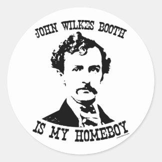 la cabine de wilkes de John est mon homeboy Adhésif Rond