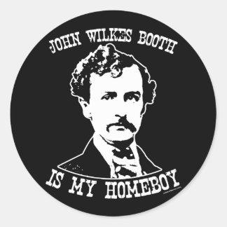 la cabine de wilkes de John est mon homeboy Sticker Rond