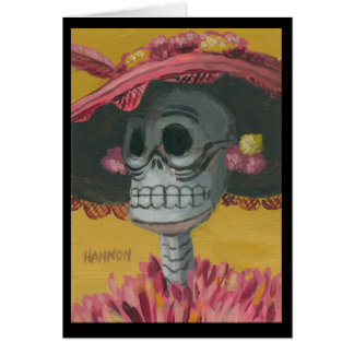 La Calavera Catrina by Mark Hannon Card