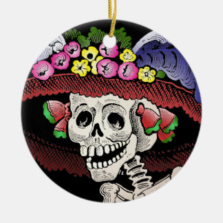 La Calavera Catrina [ornament] Ceramic Ornament