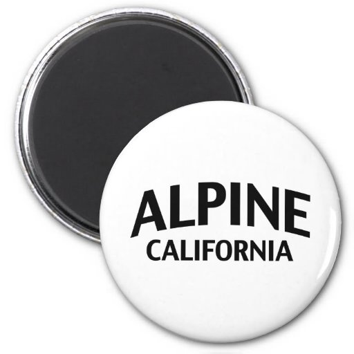 La Californie alpine Aimant