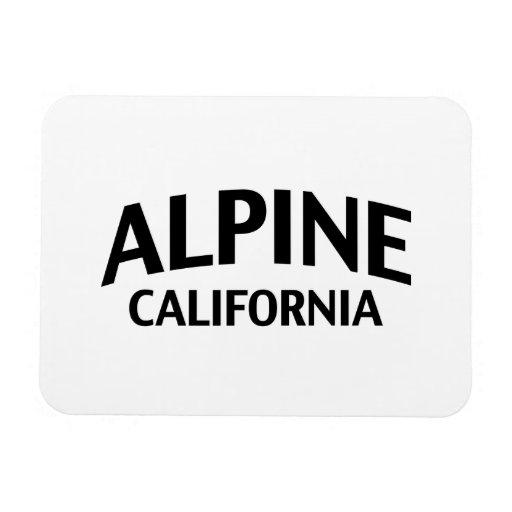 La Californie alpine Magnet Rectangulaire