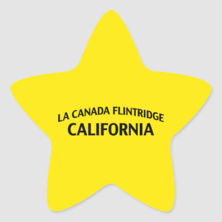 La Canada Flintridge California Star Sticker