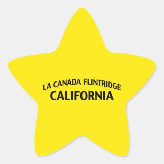 La Canada Flintridge California Star Sticker