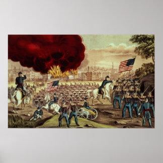 La capture d'Atlanta par l'armée des syndicats Poster