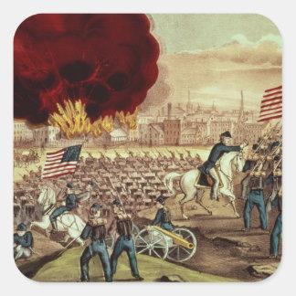 La capture d'Atlanta par l'armée des syndicats Sticker Carré