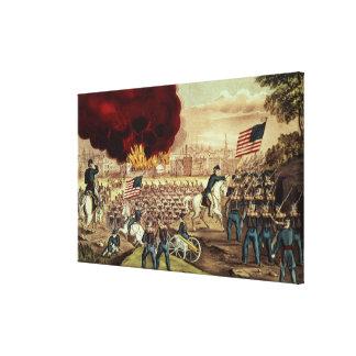 La capture d'Atlanta par l'armée des syndicats Toiles Tendues