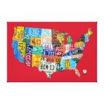 La carte de plaque minéralogique des Etats-Unis a  Toile Tendue