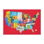 La carte de plaque minéralogique des Etats-Unis a  Toiles Tendues