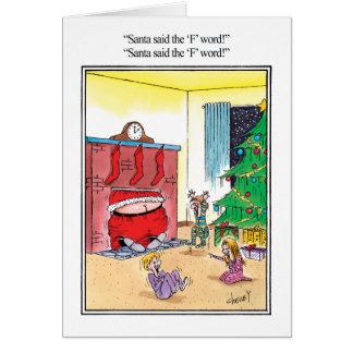 La carte de voeux d'humour de mot de F
