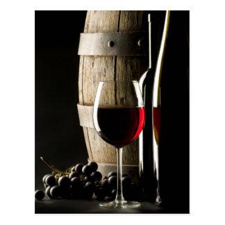La carte postale de l'amateur de vin