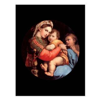 La carte postale de Madonna et d'enfant