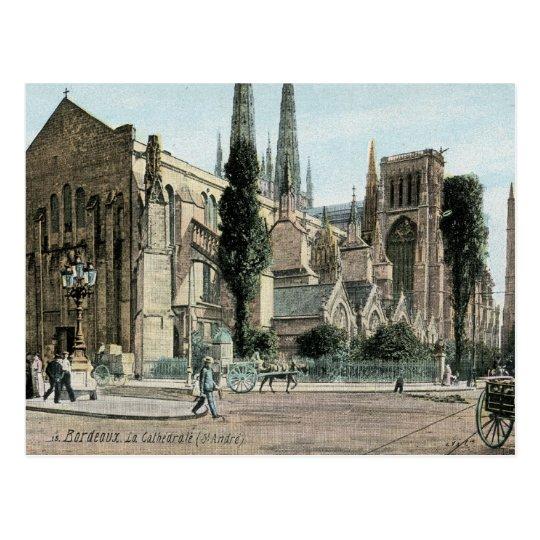 La Cathedral St. Andre, Bordeaux, France Postcard
