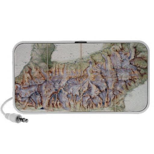 La chaîne de Mont Blanc, d'une enquête réelle deda Haut-parleur Ordinateur Portable