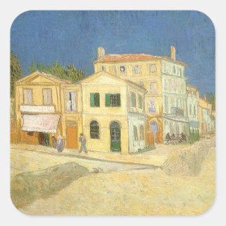 La Chambre jaune par Vincent van Gogh Sticker Carré