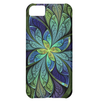 La Chanteuse IV Blue and Purple Abstract Cover For iPhone 5C