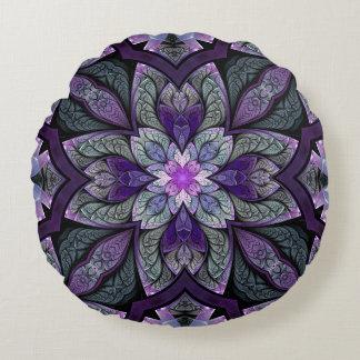 La Chanteuse Violett Round Throw Pillow
