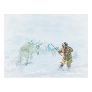 La chasse à caribou par le Mac de Shawna Carte Postale