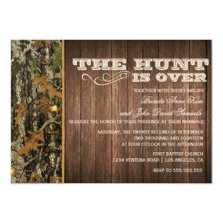 La chasse est au-dessus de faire-part de mariage carton d'invitation  12,7 cm x 17,78 cm