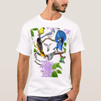La chemise d'amants d'oiseau de jardin t-shirt