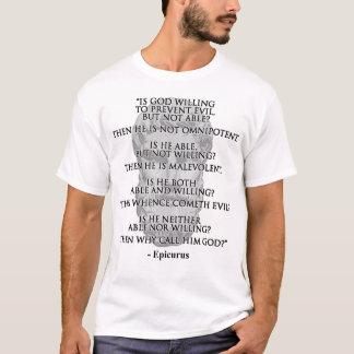 La chemise des hommes de citation d'Epicurus T-shirt