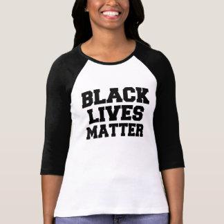 La chemise des vies des femmes noires de matière t shirt