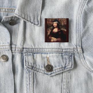 La Chola Mona Lisa 2 Inch Square Button