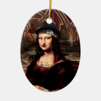 La Chola Mona Lisa Ceramic Ornament