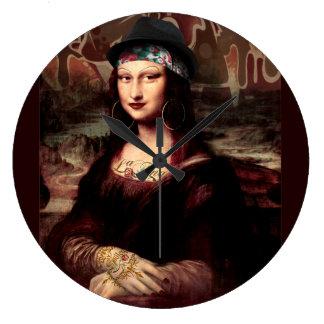 La Chola Mona Lisa Large Clock