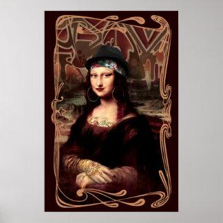 La Chola Mona Lisa Poster