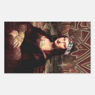 La Chola Mona Lisa Sticker