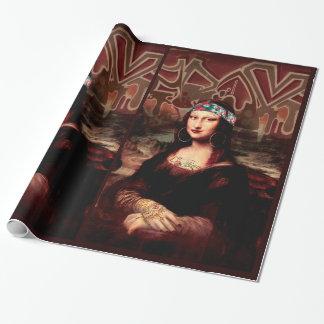 La Chola Mona Lisa Wrapping Paper