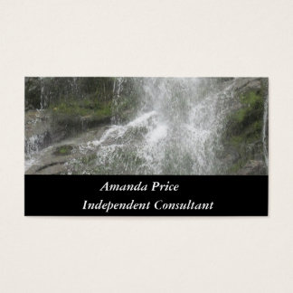 La Chute Waterfall in Forillon National Park Business Card