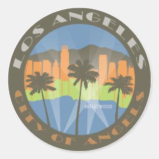 LA City of Angels Beachy Round Sticker