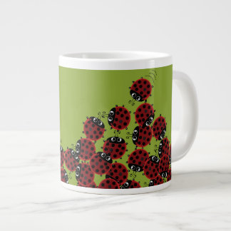 La Coccinelle - a crowded place in green? Large Coffee Mug
