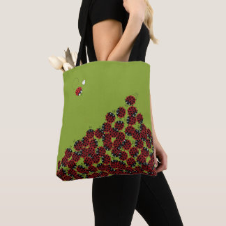 La Coccinelle - a crowded place in green? Tote Bag