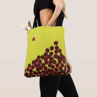 La Coccinelle - a crowded place in lime? Tote Bag