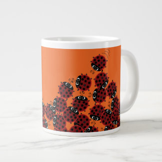 La Coccinelle - a crowded place in orange? Large Coffee Mug