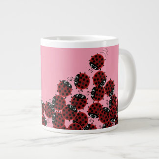 La Coccinelle - a crowded place in pink? Large Coffee Mug