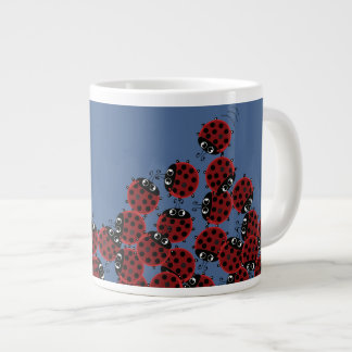 La Coccinelle - a crowded place in sky blue? Large Coffee Mug