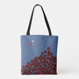 La Coccinelle - a crowded place in sky blue? Tote Bag